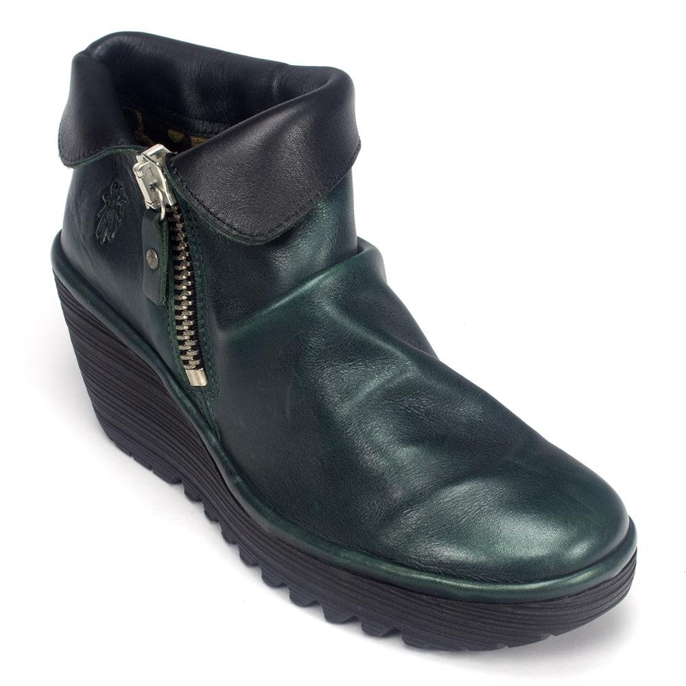 Fly London Womens Yoxi Seaweed/Black Boot - 37