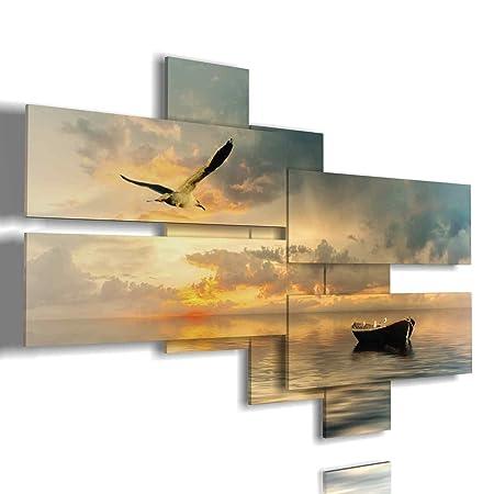 Quadro Mare 03 3D multilivello Quadri Moderni Soggiorno Moderno Salotto  Arredamento Design Stampe