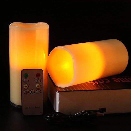 NANFENG Luz de Vela del LED, Vela de Carga del USB, luz de ...