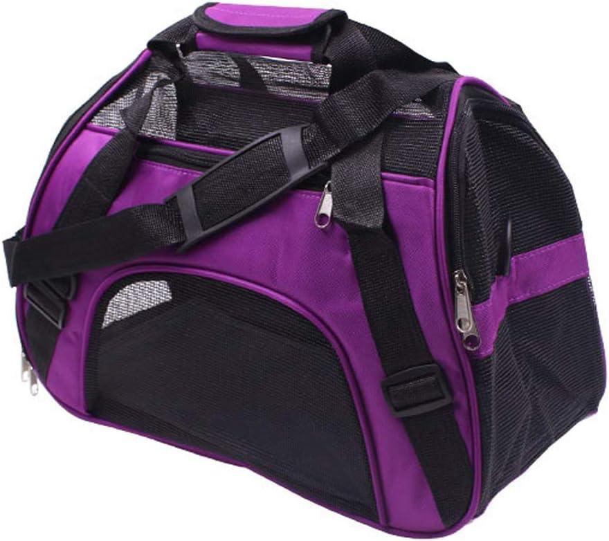 Transportín para mascotas, de PUAO; bolso de mano para mascotas, plegable, transportín de viaje, para perros, gatos y cachorros pequeños