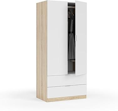 Habitdesign LC1222F - Armario Dos Puertas, Acabado en Color Roble ...