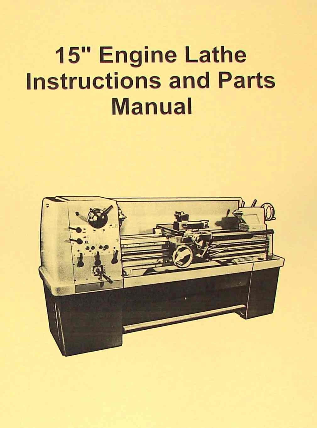 "JET-Asian 1550(D) 15"" Metal Lathe Operator's & Parts Manual: Misc.:  Amazon.com: Books"