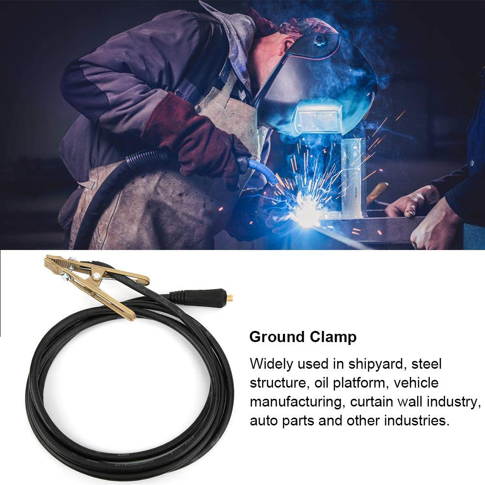 260A High Performance Brass Earth Clamp for MMA ARC Welder with 25mm/² Diameter 3 Meter Length Cable Welding Ground Clamp