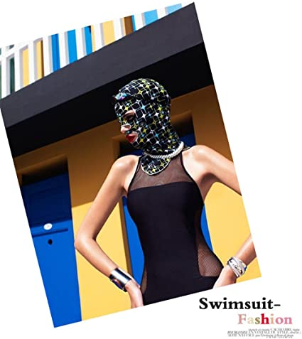 ADAHOP Facekini Face Kini Swimming Cap Uv Protection Face Mask 37 Stylish Colors to Choose From