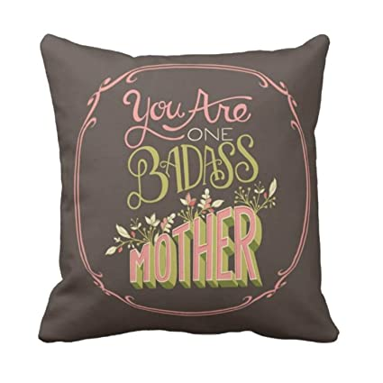 Buy Yaya Cafe Birthday Gifts For Mother Badass Mother Cushion Covers