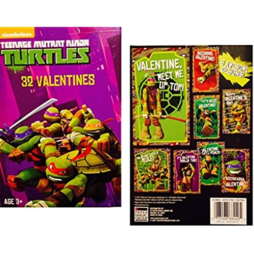 Teenage Mutant Ninja Turtle Valentines ~ 32 count Sales