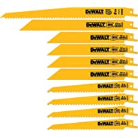 Deals on DEWALT 10-Pack Bi-Metal Reciprocating Saw Blade Set