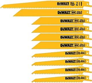 product image for DEWALT Reciprocating Saw Blades, Bi-Metal Set with Case, 10-Piece (DW4898)