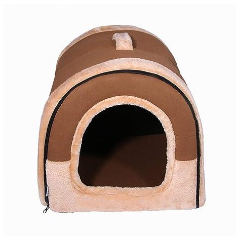Oyamihin Casa para Mascotas Cama para Perros marrón Gatos para Mascotas Sofá Cojín Suave Lavable Cómoda