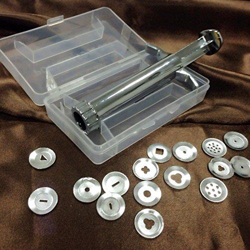 wildlead 20/stcke Acero Inoxidable gedrngte barro el/éctrica Polymer Clay Fimo Extrusora Escultura Decorar Herramienta