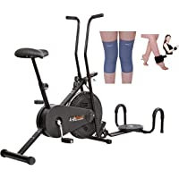 Lifeline Fitness Cycle 102 for Weight Loss at Home | Bundles with Twister, Pushup, Weight Cuff (1 kg) and Knee Cap (Four Way Stretch)