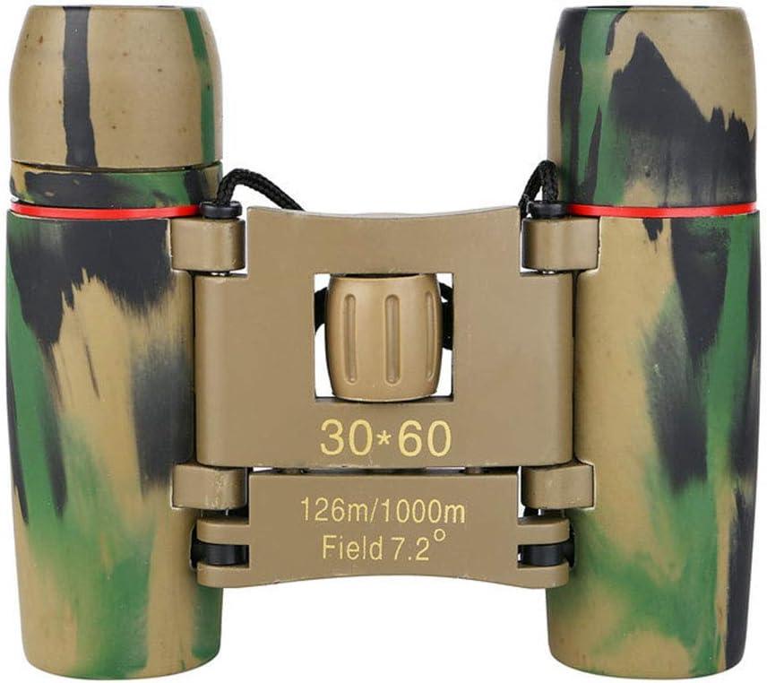 SJTL Prismáticos Profesionales, 30x60 Prismáticos HD BaK4 y FMC telescopio con Adaptador telefónico para la observación de Aves, Caza, Senderismo, astronomía y Viajes,Verde