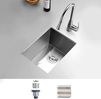 Torva 14 X 18 Inch Undermount Kitchen Sink 16 Gauge T 304 Stainless Steel Single Bowl Wet Bar Or Prep Sink With Zero Radius Corners Amazon Ca Tools Home Improvement