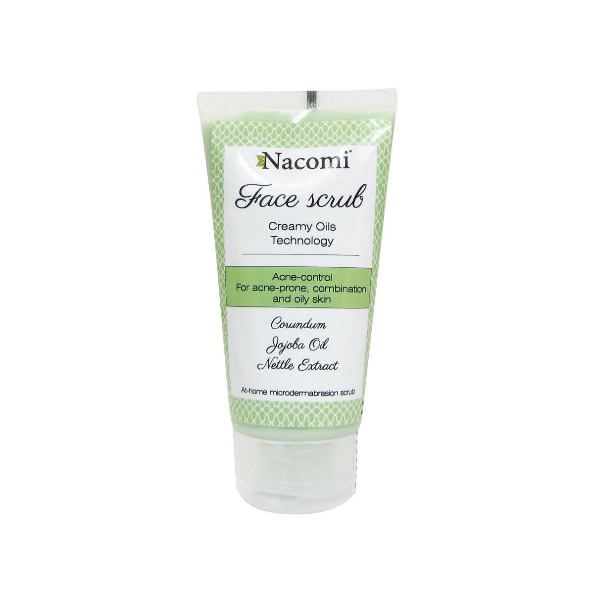 Scrub viso anti-acne Nacomi Olio di Jojoba Ortica Peeling pulizia pelle mista grassa 85 ml
