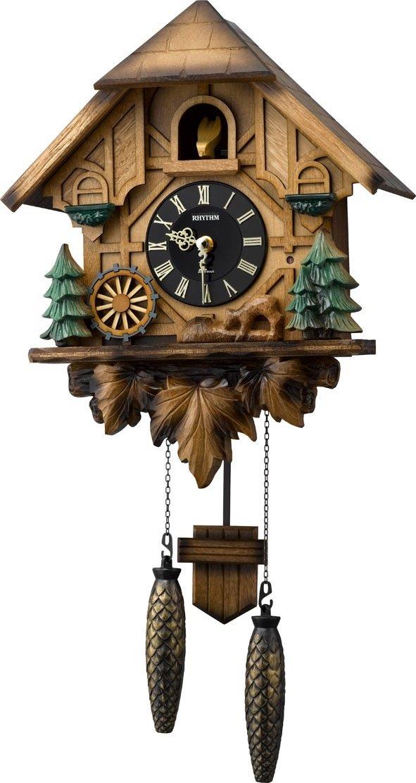 RHYTHM ( リズム時計 ) 【 日本製造 】 毎正時数取り後、メロディ付 カッコーティンバー 茶色木地仕上げ 4MJ423SR06 B00Y0BDJOY