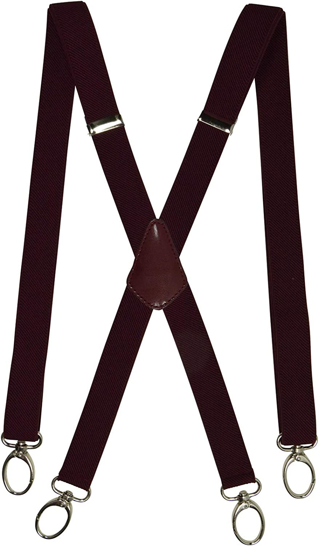2.5cm larghezza Olata Unisex Bretelle elastiche Magro Stile X-Forma con Carabiner Clip