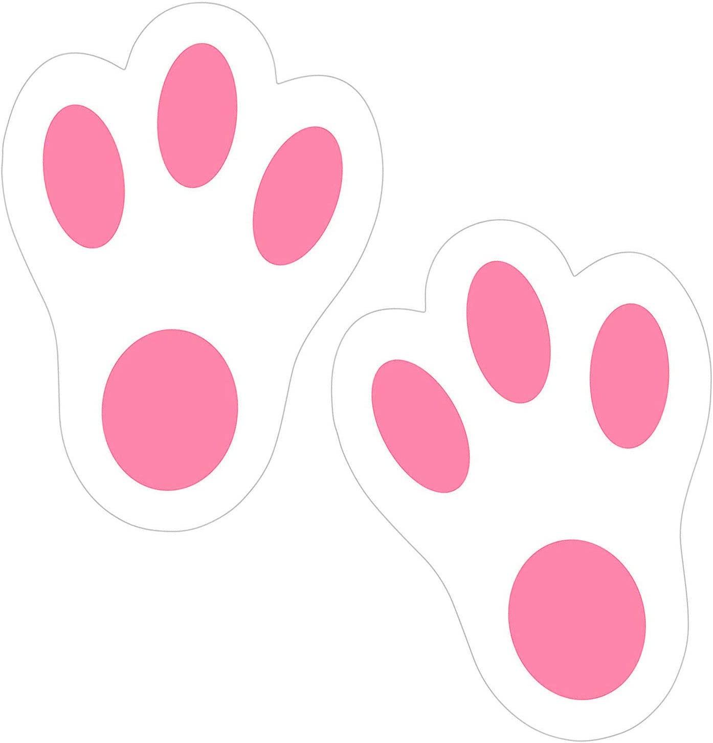 Easter Bunny Feet Rabbit Bunny Footprint Easter Egg Hunt Party Game Easter Stickers Easter Decoration 40Pcs
