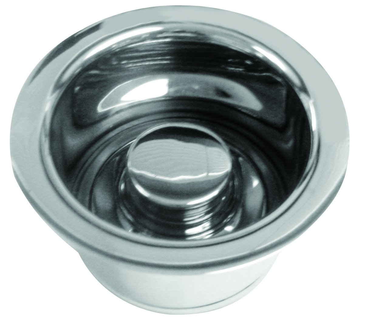 InSinkErator Style Extra-Deep Disposal Flange and Stopper in Polished Chrome