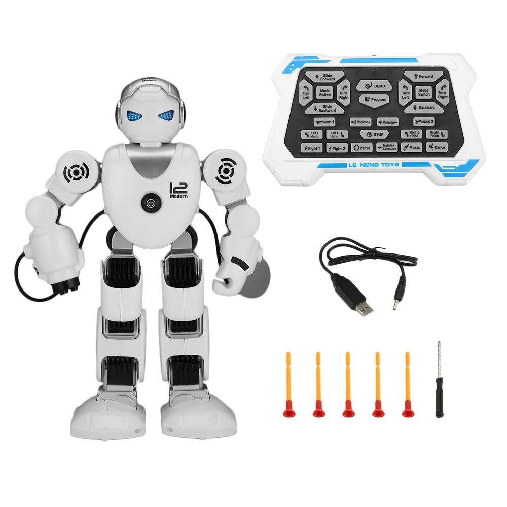Erduo K1 Intelligent Alpha Robot Programmazione Intelligente Robot umanoidi Giocattoli Demo Danza Che Canta Robot Giocattolo educativo per Bambini - argentoo e Bianco