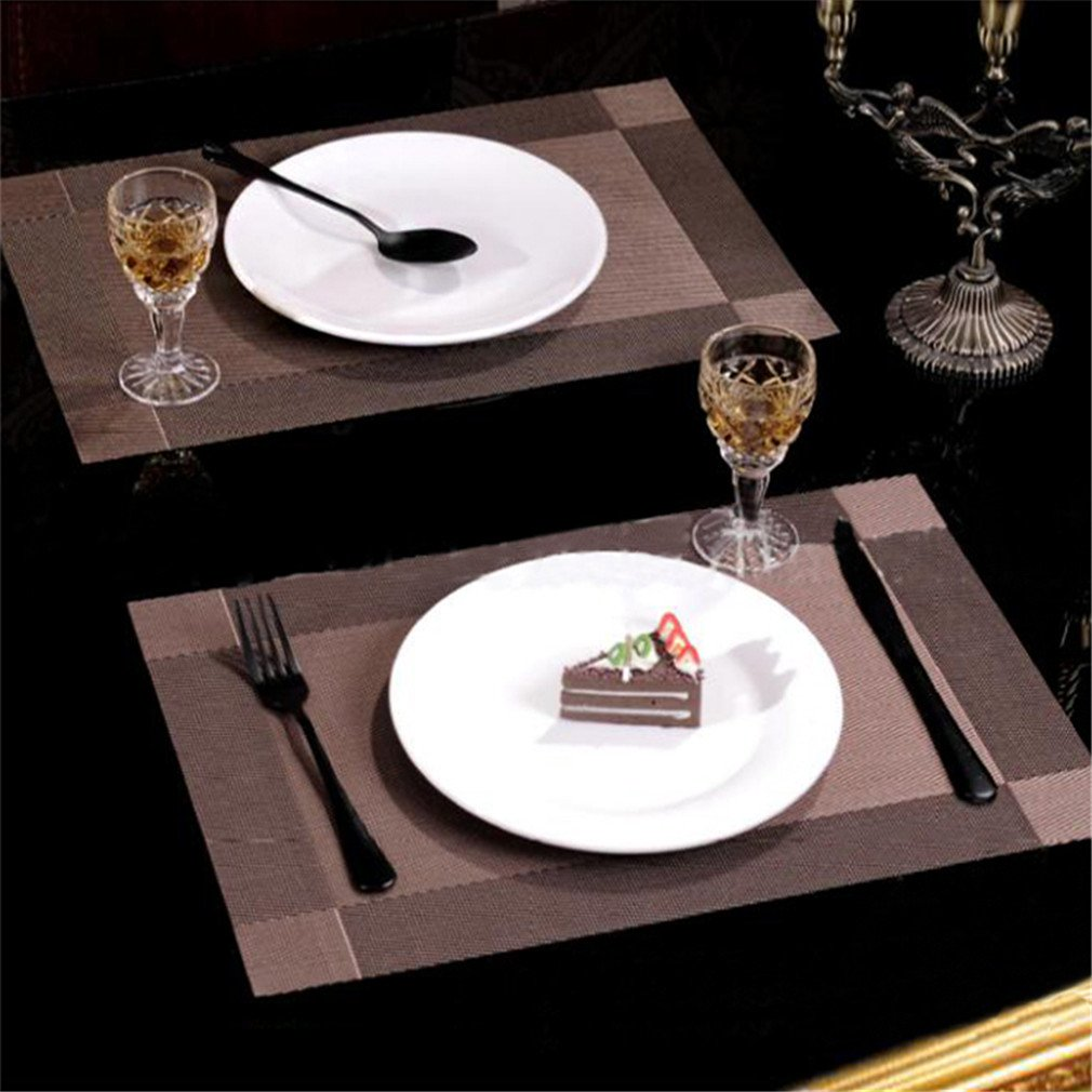 Pro Space Non-Slip Placemats Waterproof High Temperature Resistance Table Mats 12x18inch 6pack Beige DCP Resources Inc.