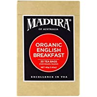 Madura Organic English Breakfast 20 Enveloped Tea Bags, 1 x 40 g