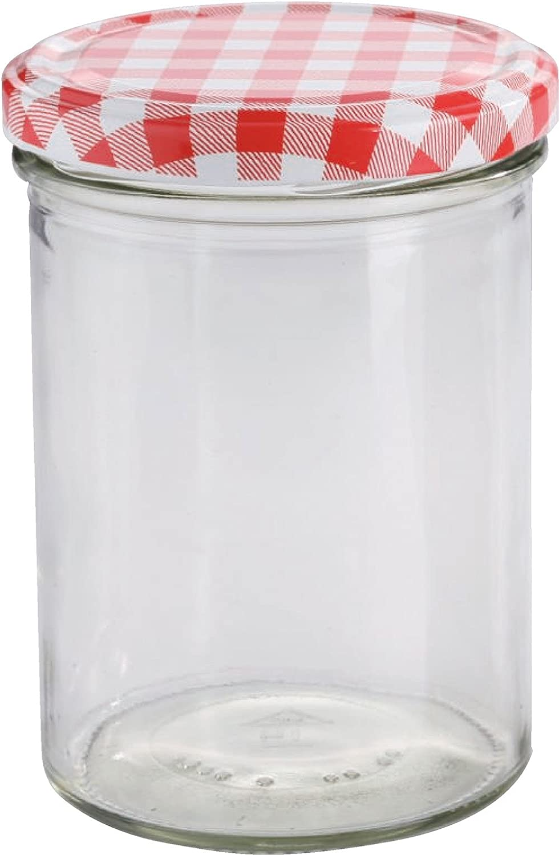15 x 440 ml Sturzglas / Einmachglas mit Deckel | Höhe 11 cm: Amazon ...