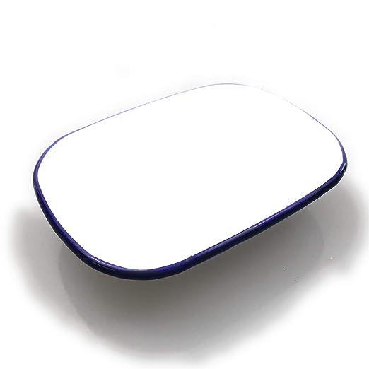 Kerafactum Muesli - Cuenco esmaltado Blanco con Borde Azul para ...