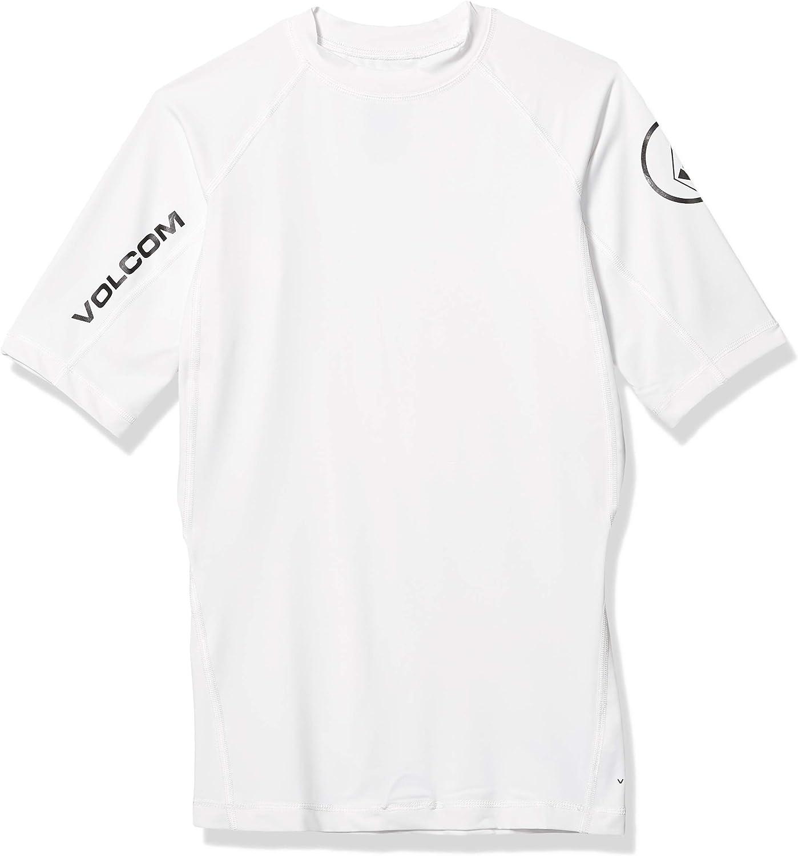 Volcom Lido Solid Surf Lycra T-Shirt Playera contra Sarpullido, Hombre