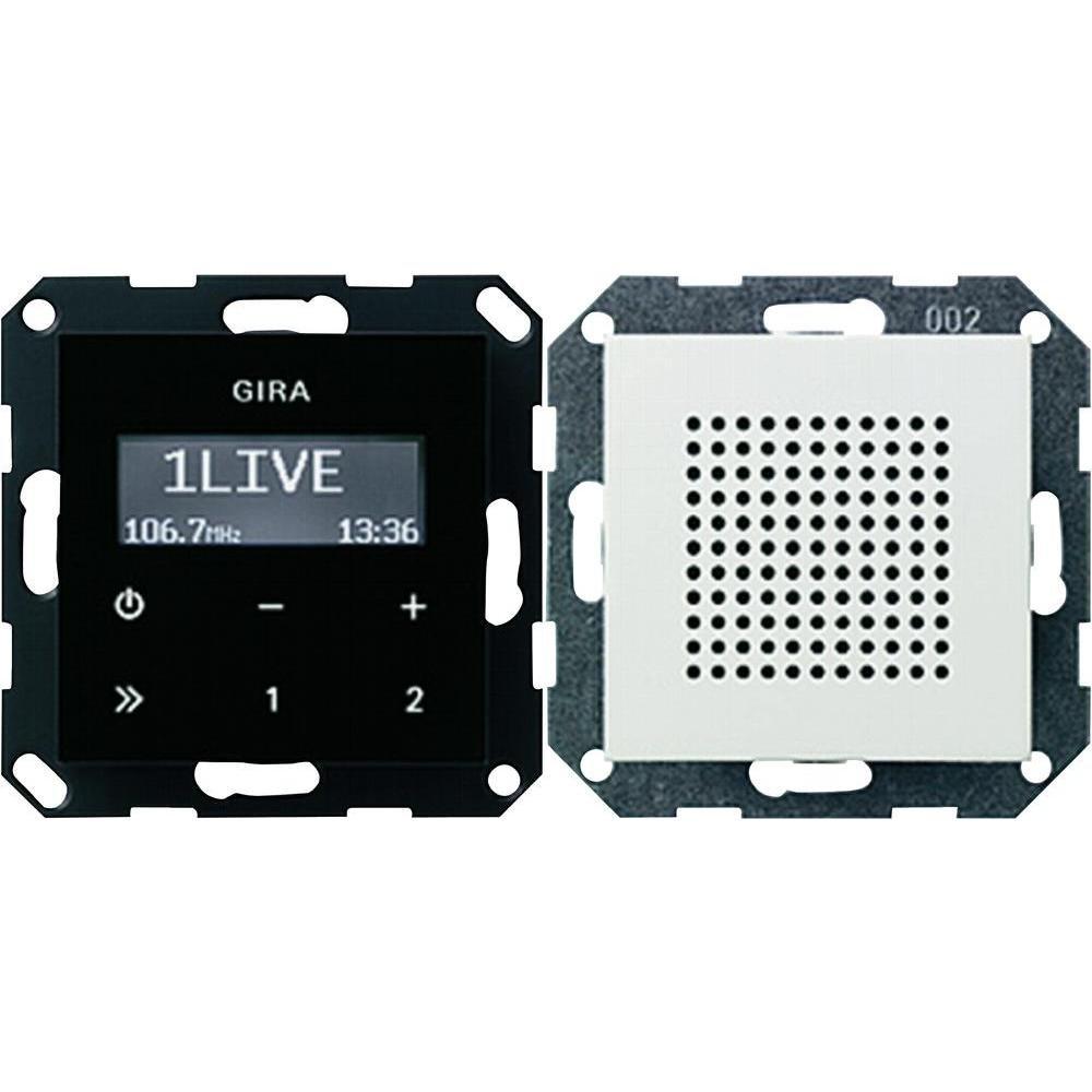 Gira 228003 Unterputz Radio RDS System 55, reinweiß: Amazon.de: Baumarkt