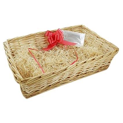 YoL Xmas Christmas Make your own gift hamper kit create diy wicker basket tray empty: Amazon.co.uk: Kitchen & Home