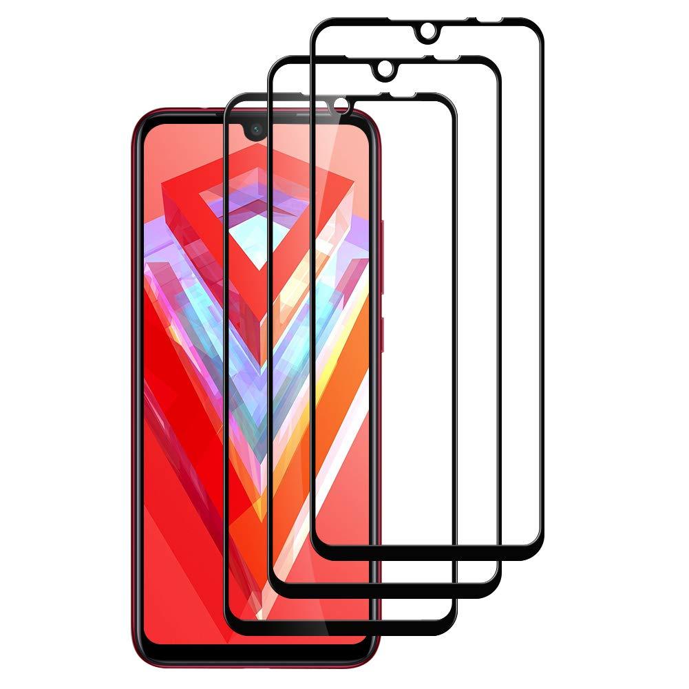 IRROT Vetro Temperato per Xiaomi Redmi Note 7, 3D Copertura Completa 3 Pack HD Chiaro Senza Bolle Pellicola Protettiva Xiaomi Redmi Note 7 9H Durezza Anti-Graffio