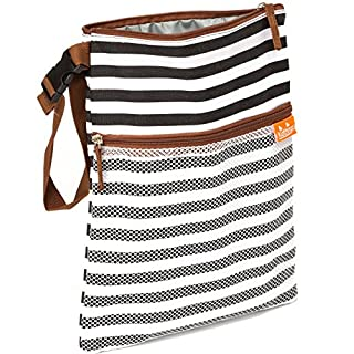 Wet Bag Dry Bag - Looks Great Anywhere– Easy to Clean – Perfect for Wet Clothes or as Cloth Diapers Wet Bag – Non Toxic Liner with Sealed Seams
