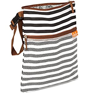 Wet Bag Dry Bag – Looks Great Anywhere– Easy to Clean – Perfect for Wet Clothes or as Cloth Diapers Wet Bag – Non Toxic…
