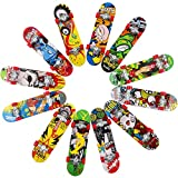 HEHALI 12pcs Matte Metal Finger Skateboards Professional Mini Fingerboards for Kids Birthday Gifts