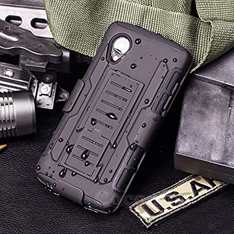 LG Nexus 5 Case, Cocomii Robot Armor NEW [Heavy Duty] Premium Belt Clip Holster Kickstand Shockproof Hard Bumper Shell [Military Defender] Full Body Dual Layer Rugged Cover Google (Lg Nexus 5 Cases For Girls)