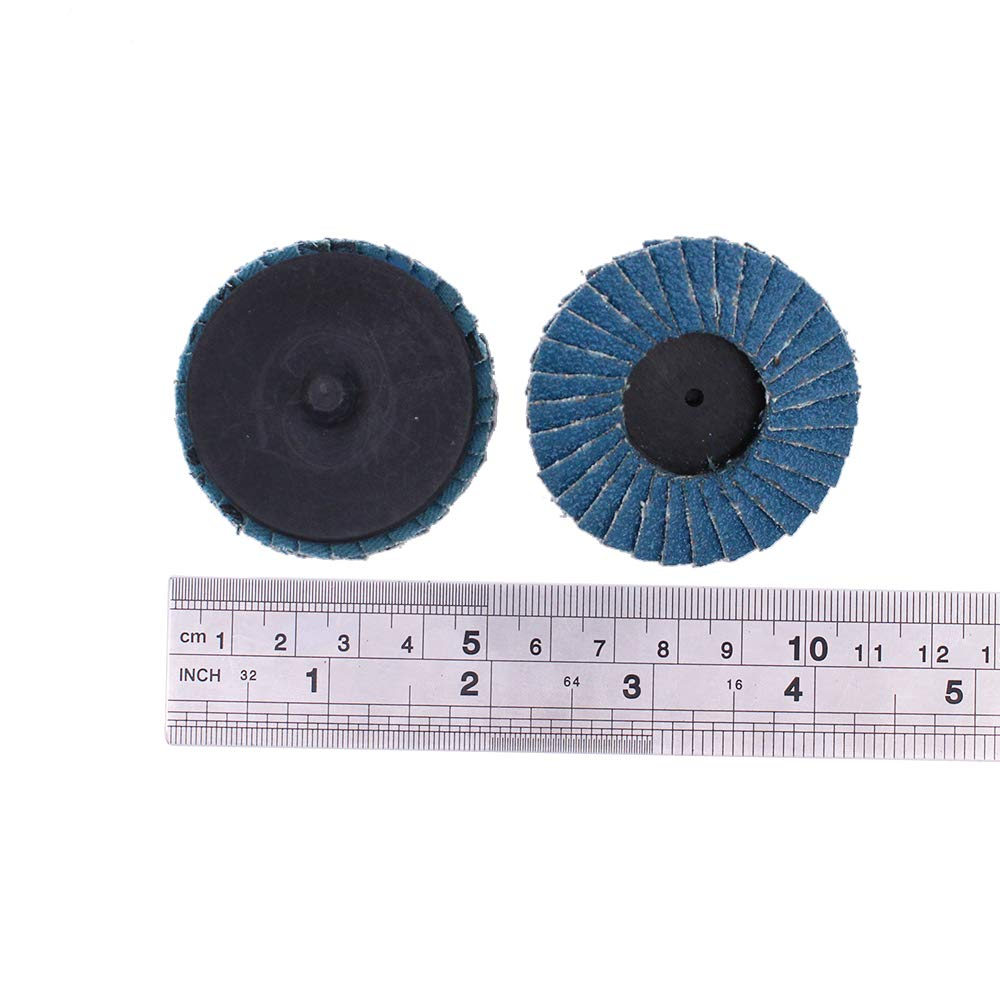 2.8 x 2 x 1//4 inch Stem-mounted flap wheels 2-piece polishing wheels