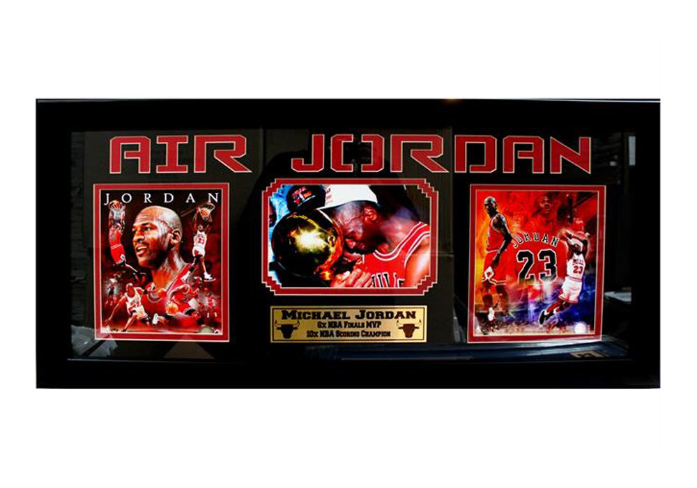 Encore Select 302-21 NBA Chicago Bulls 3 Photo Framed Sports Memorabilia, 15-Inch by 35-Inch by Encore