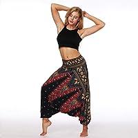 AMOMA Loose Fit Yoga Harem Pants Indie Folk Aladdin Hippy Boho Style Wide Leg Bloomers Pantalettes