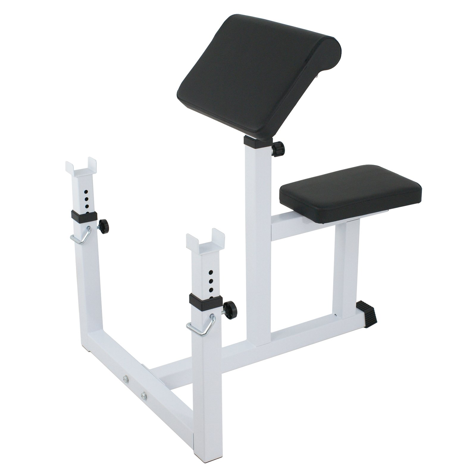 BBBuy Fitness Preacher Adjustable Weight Bench Seated Preacher Isolated Dumbbell Biceps Training Station
