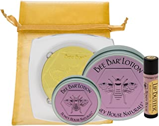 product image for Honey House Naturals 4 Piece Lavender Lotion & Raspberry Lemonade Lip Butter Gift Set