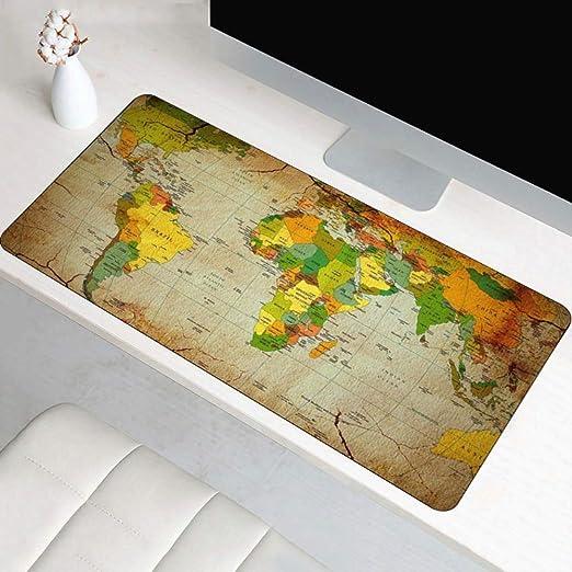 Alfombrilla de ratón Mapa del mundo Xl Mesa grande y grande Cojín ...