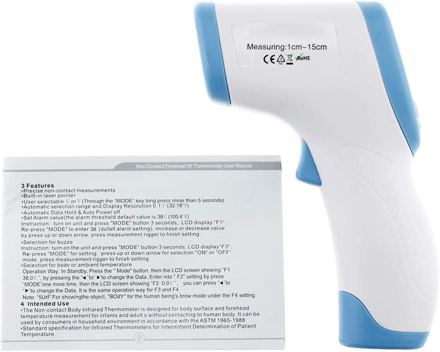 Color Aleatorio Moonvvin Term/ómetro Digital Infrarrojo Herramienta de medici/ón de Temperatura Corporal Frontal sin Contacto para beb/és Adultos