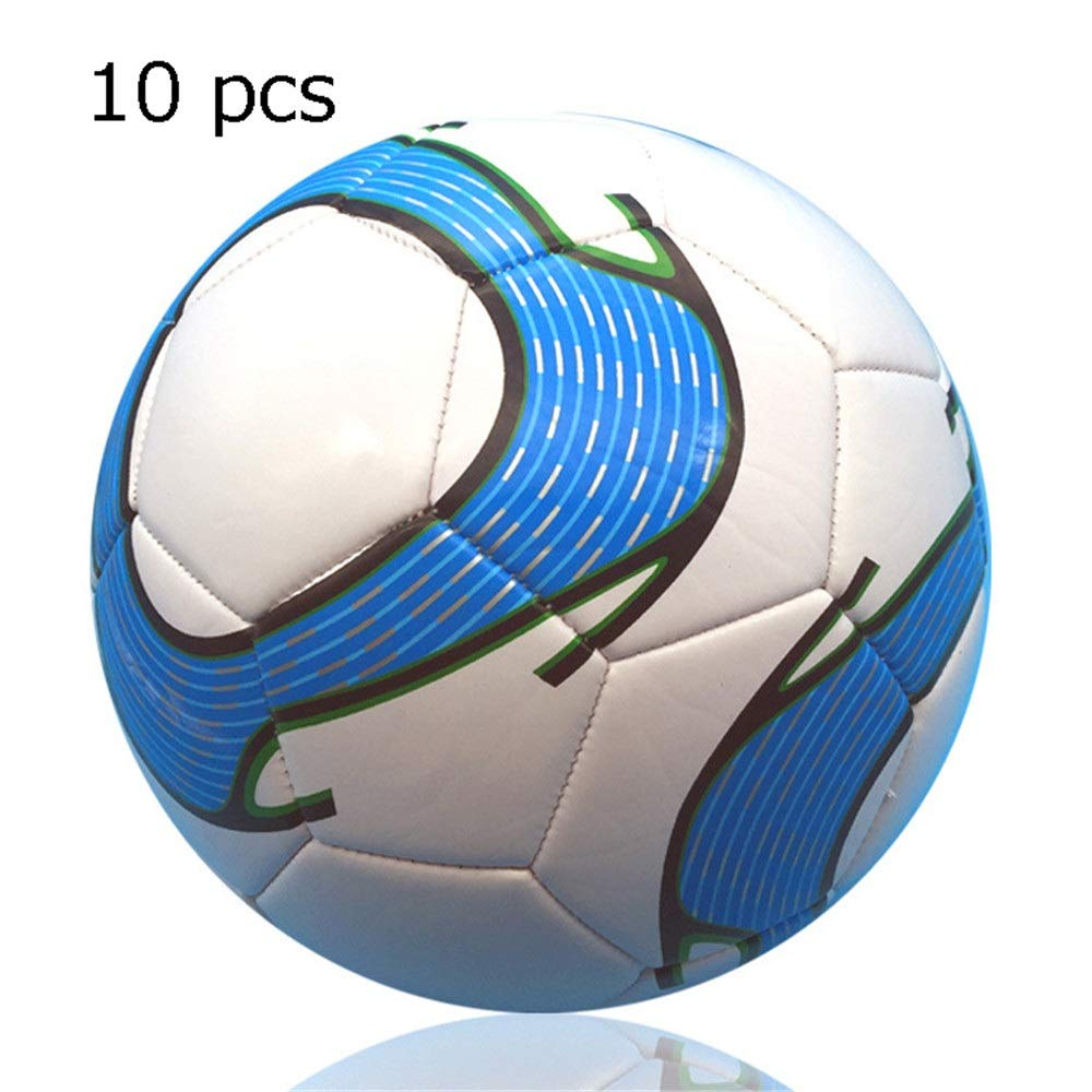 Ybriefbag-Balls 10 Pcs Girl's and Boy's PVC Machine Stitching Soft Football Children's Official Size 5 Training Football Soccer Ball for Kids Outdoor Sport Game Soccer Toy (Color : C1, Size : 5) by Ybriefbag-Balls