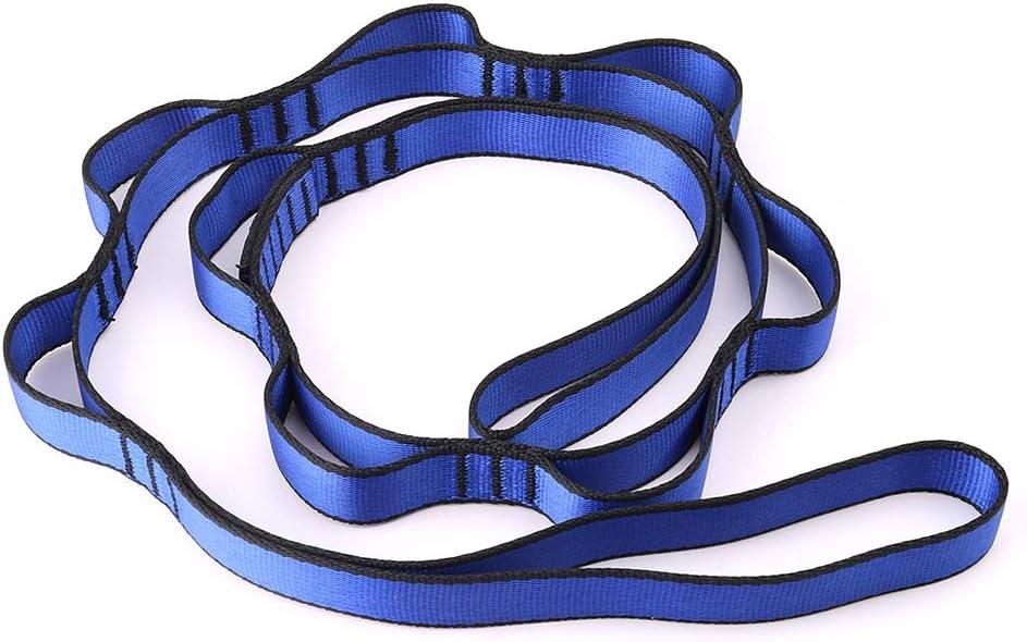 ruiruiNIE Escalada Nylon Daisy Cadena De Cuerda con Bucles Yoga Hamaca Colgante Correa Bandlet - Azul