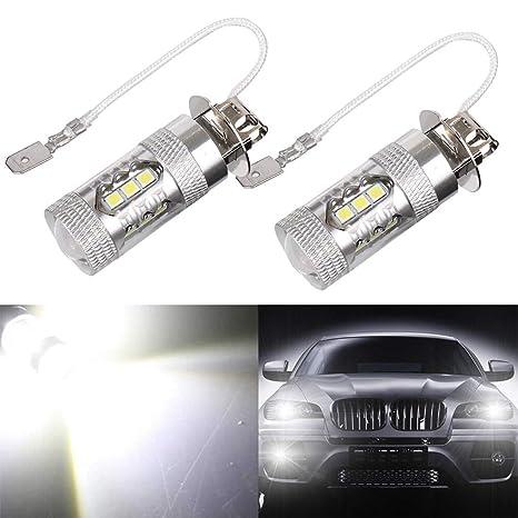 Mesllin H3 Alta potencia LED Luz antiniebla Bombillas de la lámpara de conducción automotriz 1800Lms 16SMD