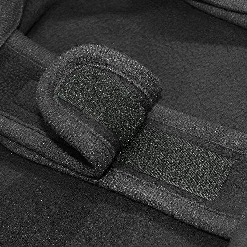 Best Pet Supplies 251-BK-S Voyager Windproof Fleece Pet Jacket, Small, Black by Best Pet Supplies, Inc. (Image #2)'