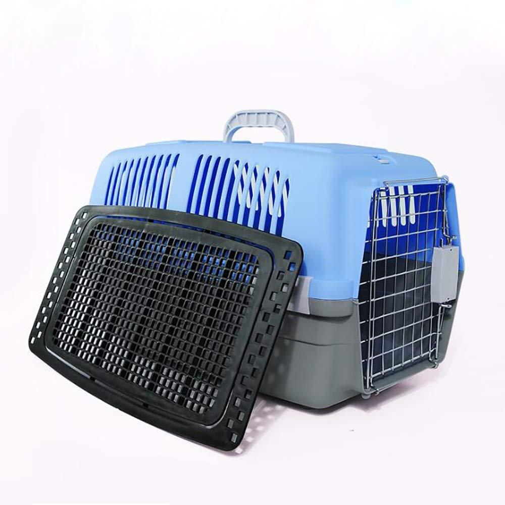 bluee Pet Transport box,Pet Carrier 51  33  34cm (color   bluee)