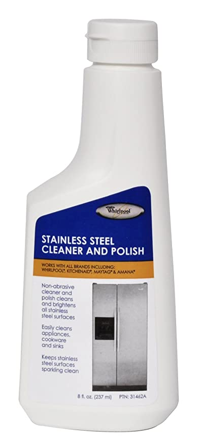 Superior Whirlpool 31462A Stainless Steel Cleaner And Polish 8 Ounce