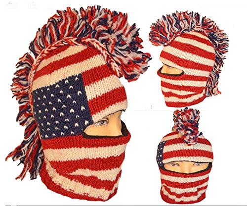 USA Ski Mohawk Mask Handmade product image