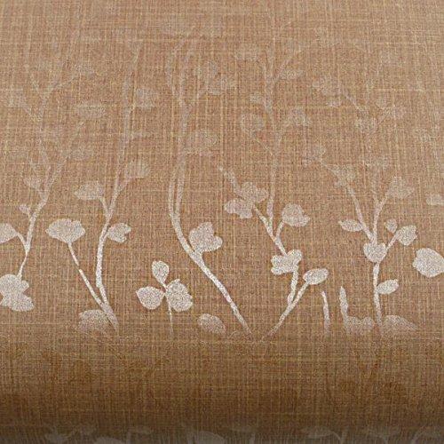 (Peel and Stick PVC Instant Floral Decorative Self-Adhesive Film Countertop Backsplash Herb Garden Borwn Pearl (PG4181-3 : 2.00 Feet X 6.56 Feet))